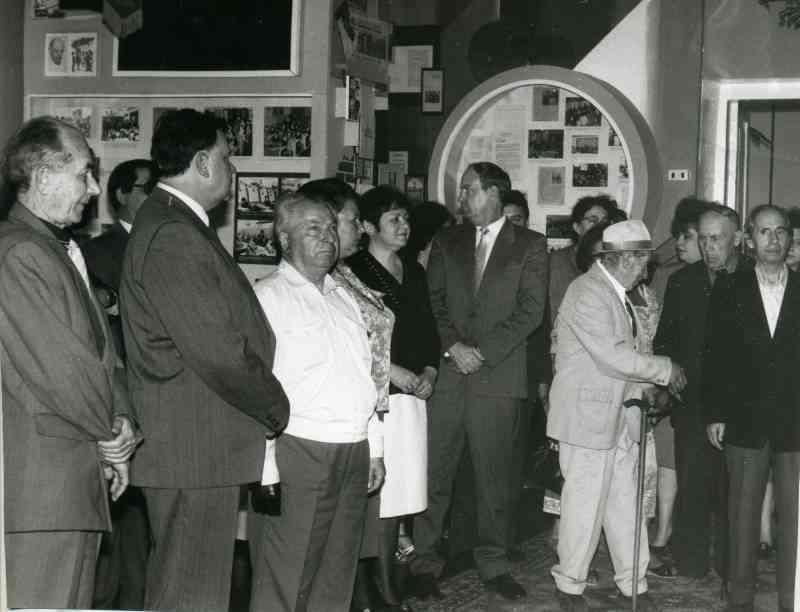На открытие новой экспозиции. Апрель 1995г.