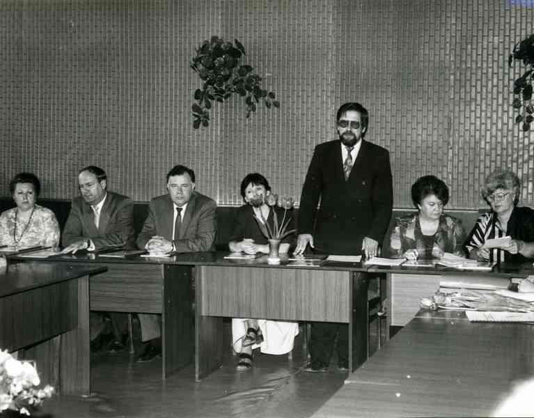 Торжественное заседание, посвященное открытию музея после реэкспозиции. Апрель 1995г.